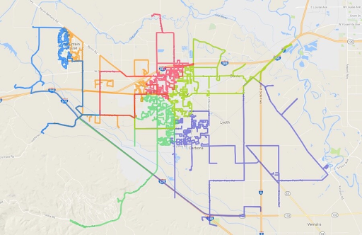 FedEx Ground Operator routes after Routific