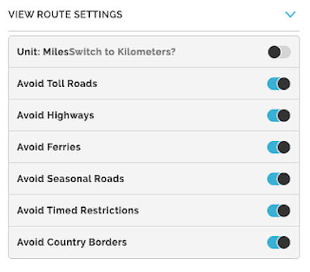 Mapquest Route Planner for Deliveries
