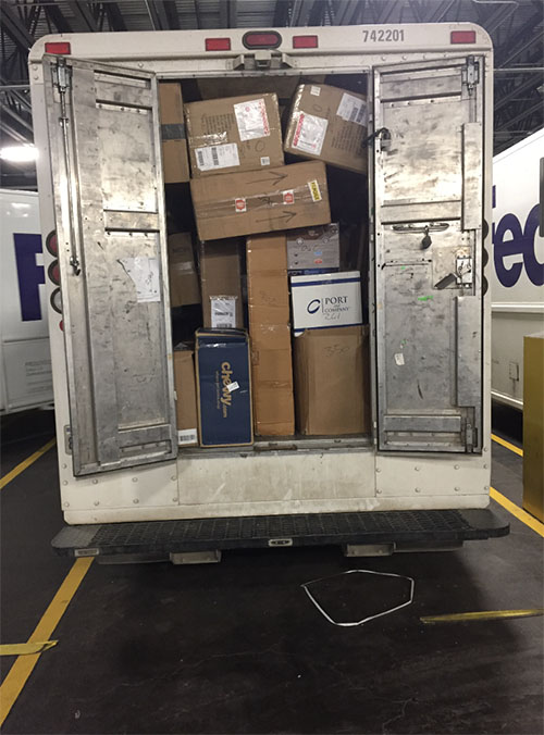 fedex truck ready for delivery