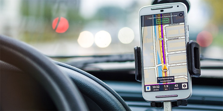 route optimization app on phone screen