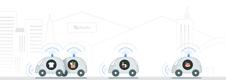 self driving delivery truck