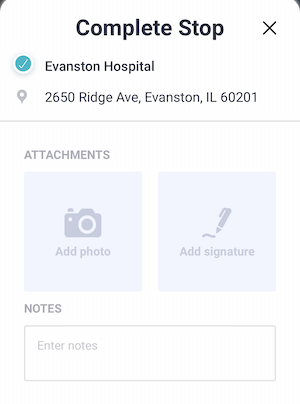 photo capture and signature capture proof of delivery screenshot